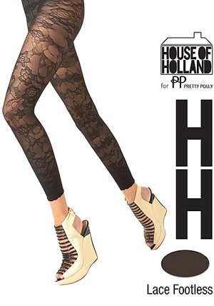 House of Holland Lace Footless Tights