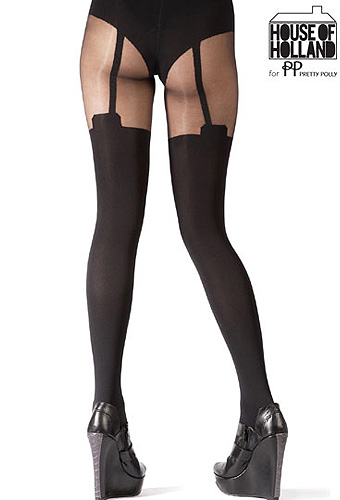 Pretty Polly House of Holland Mock Stocking Tights