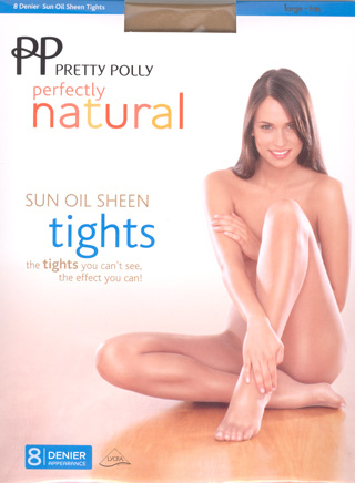 Pretty Polly Natural Sun Oil Sheen Tights
