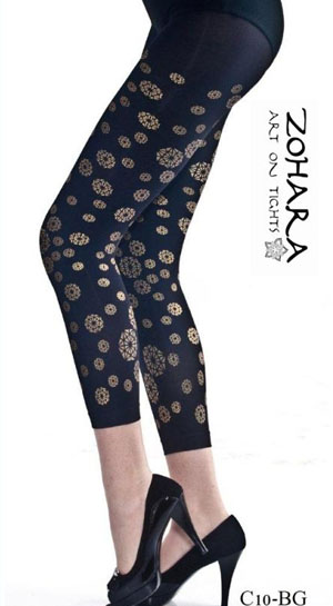 Zohara Leggings with Golden Print