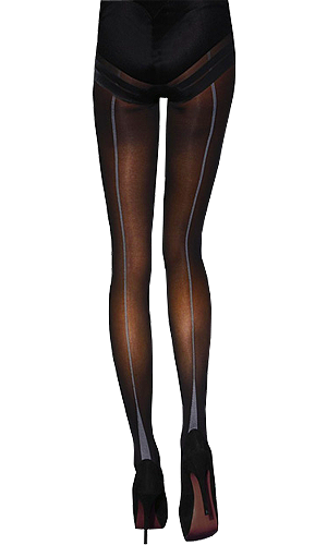 Jonathan Aston Vintage Legs Opaque Backseam and Heel Tights