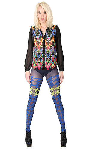 Pretty Polly House of Holland Houndstooth Tights