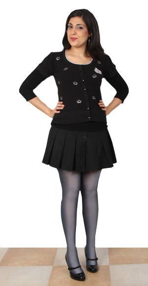 Miss Saba Models Pretty Polly Unbelievable Tights