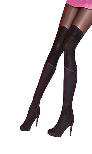 Pretty Polly Secret Socks Over The Knee Tights